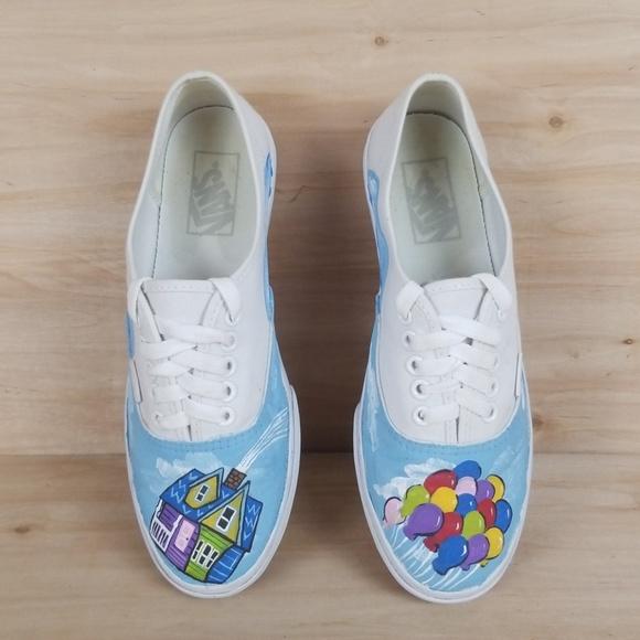Akatsuki Cloud Vans Shoes tilpassede håndmalte sko